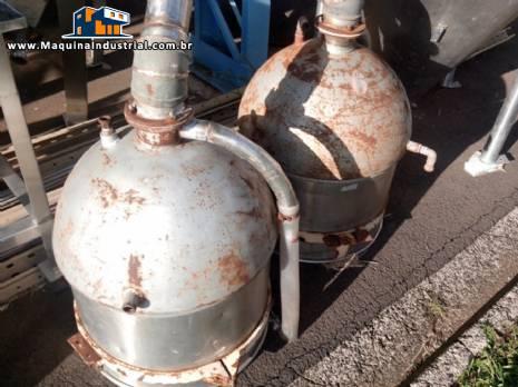 2 Tachos de 50 litros em aço inox encamisado