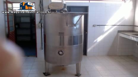 Tanque batedor / misturador de 1.000 litros em aço inox
