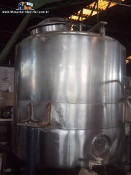 Tanque encamisado em aço inox 1000 litros