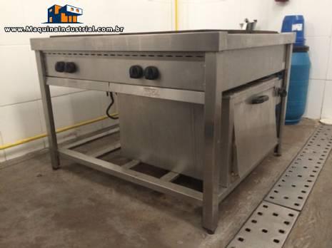 Fogão industrial modular 1000 à gás Cozil