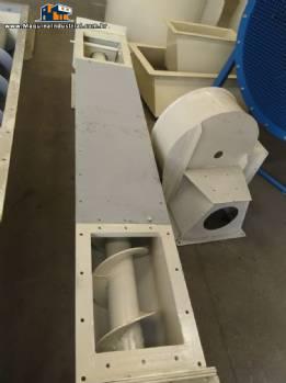 Rosca transportadora para 7,5 m ³ / h  Bayervento